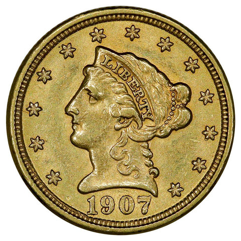 1907 $2.5 Liberty Gold Coin - About Uncirculated