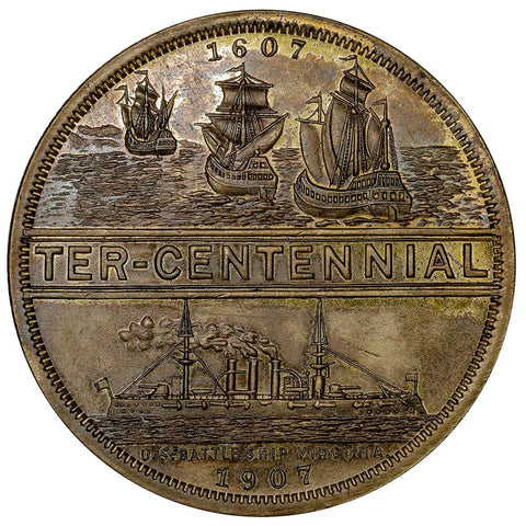1907 Jamestown Tercentennial So-Called-Dollar HK.349 - Uncirculated Detail