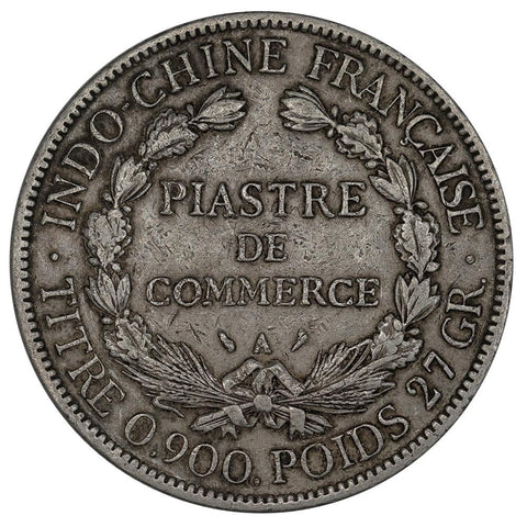 1907-A French Indo-China Silver Piastre KM.5a.1 - Very Fine