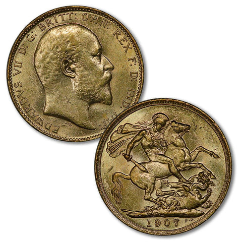 1902-1910 Edward VII Gold Sovereigns - By Date/Country - XF or Better