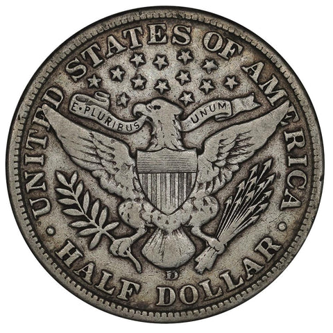1907-D Barber Half Dollar - Very Fine