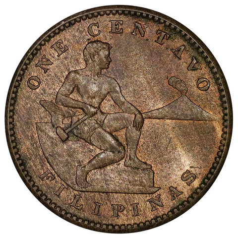 1908-S Philippines Centavo KM. 163 - Red & Brown Uncirculated
