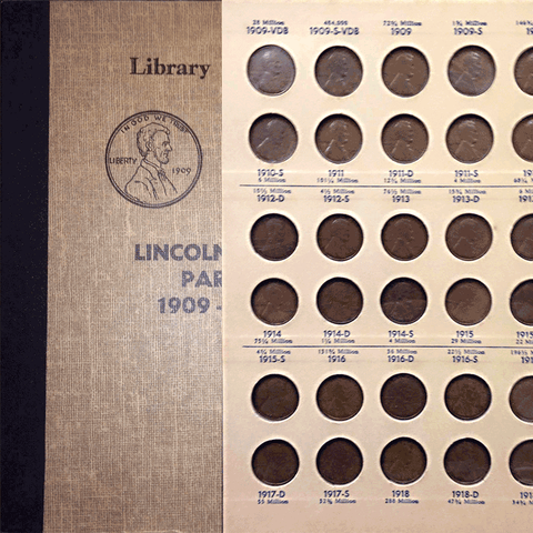 1909 to 1958 Lincoln Cent Sets Special