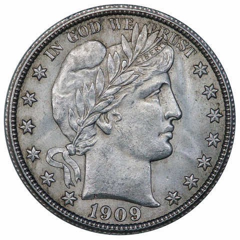 1909 Barber Half Dollar - About Uncirculated+