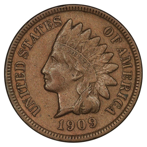 1909-S Indian Head Cent Key Date - Very Fine