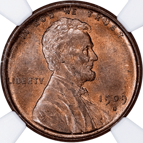 1909-S VDB Lincoln Wheat Cent in NGC MS 64 BN - Choice Uncirculated