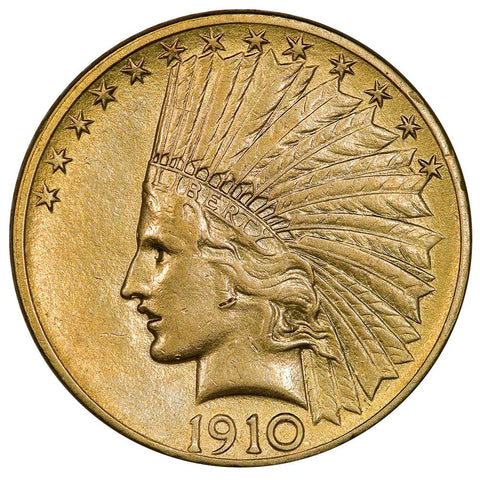 1914 $10 Indian Gold Coin - Very Fine - Amazingly Low Premium