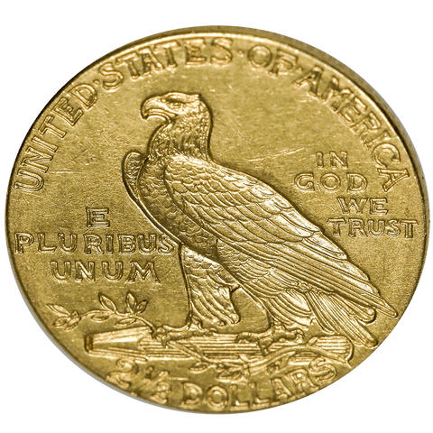1910 $2.5 Indian Quarter Eagle Gold Coin Pin - About Uncirculated+ Details