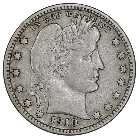 1910-D Barber Quarter - Very Fine