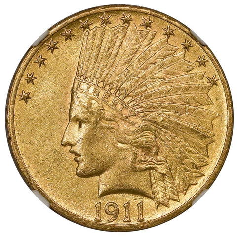 1911 $10 Indian Gold Coin - NGC MS 61 - Brilliant Uncirculated