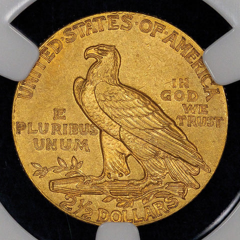 Key-Date 1911-D $2.5 Indian Gold Quarter Eagle - NGC AU 58