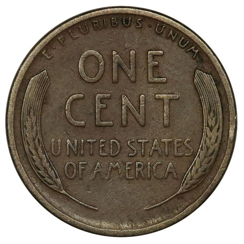 1911-S Lincoln Wheat Cent - Very Good