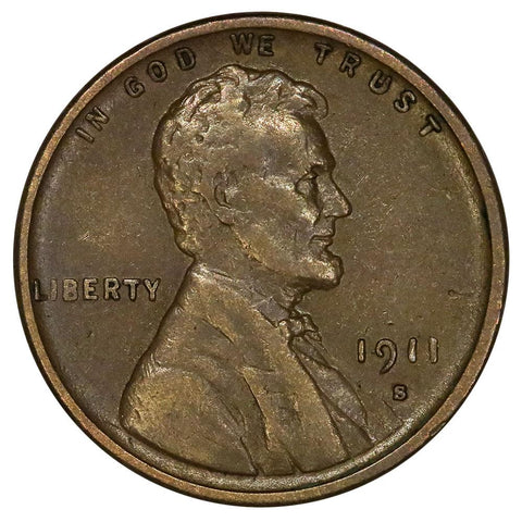 1911-S Lincoln Wheat Cent - Very Fine