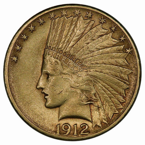 1912 $10 Indian Gold Coin - Very Fine - Nice Coin, Low Price