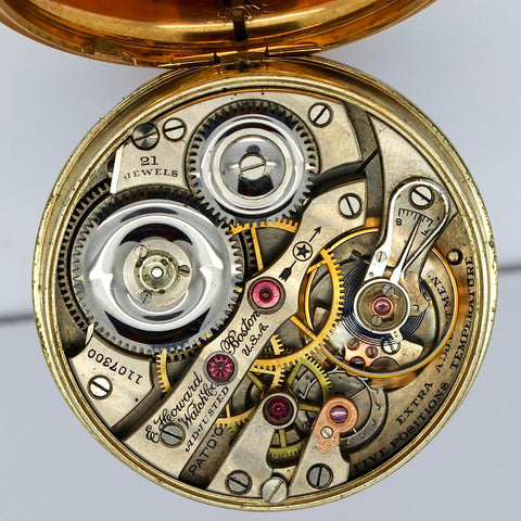 1912 E. Howard Railroad Pocket Watch - Grade Series 1, Model 1907, 21 Jewel, Size 16s