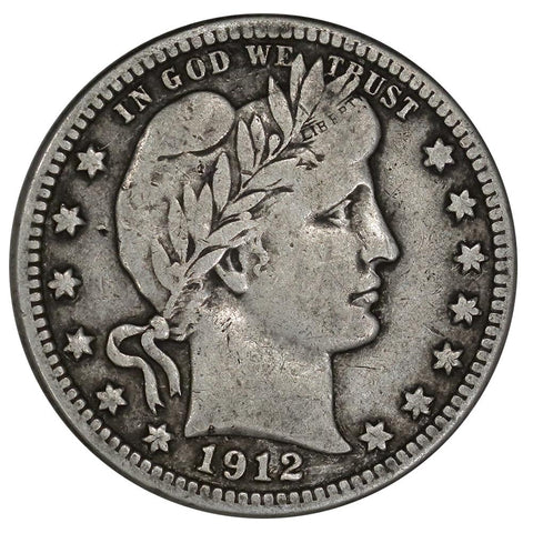 1912-S Barber Quarter - Very Fine