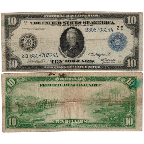 1914 $10 Federal Reserve Bank of New York Fr. 908 - Apparent Fine