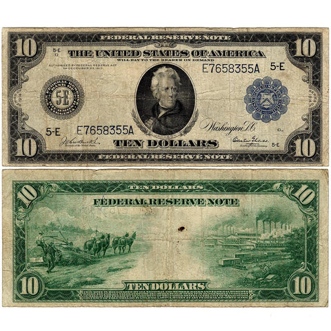 1914 $10 Federal Reserve Bank of Richmond Fr. 921 - Fine