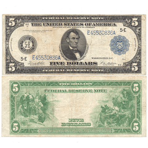 1914 $5 Richmond Federal Reserve Note Fr. 863A - Very Fine