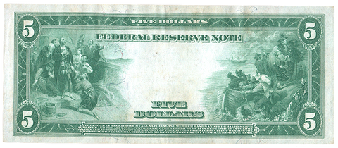 1914 $5 Richmond Federal Reserve Note Fr. 860 - Choice Crisp Uncirculated