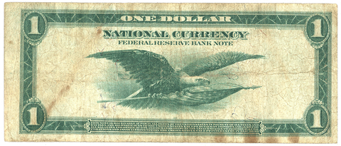 1918 $1 Cleveland Federal Reserve Bank Note FR. 720 - Fine