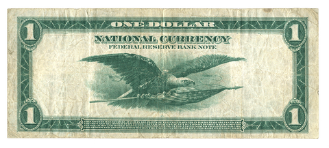 1918 $1 New York Federal Reserve Bank Note FR. 713 - Very Fine