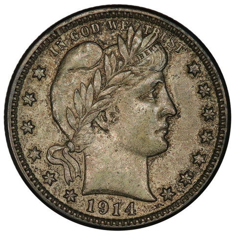 1914-D Barber Quarter - About Uncirculated