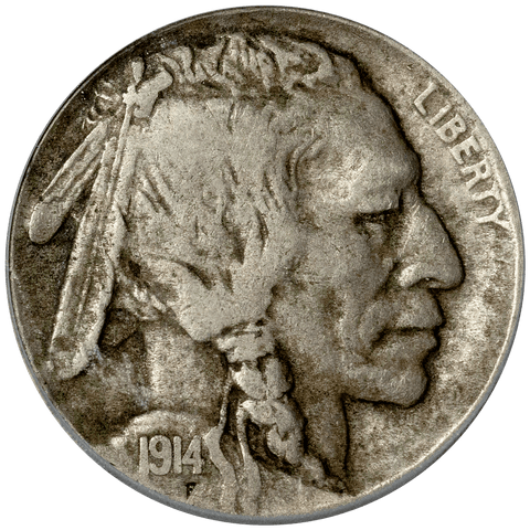 1914-D Buffalo Nickel - ICG VF 25 - Very Fine