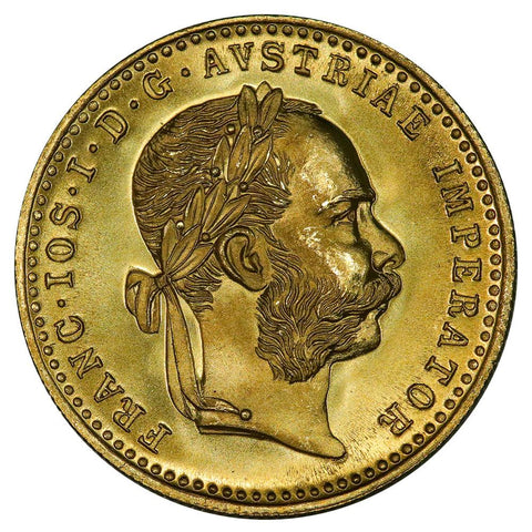 1915 Restrike Austria Gold Ducats - .1107 oz AGW - Gem Uncirculated