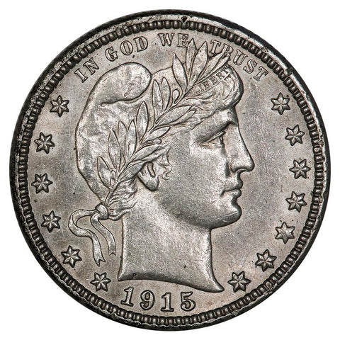 1915-D Barber Quarter - About Uncirculated