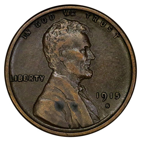 1915-S Lincoln Wheat Cent - Extremely Fine