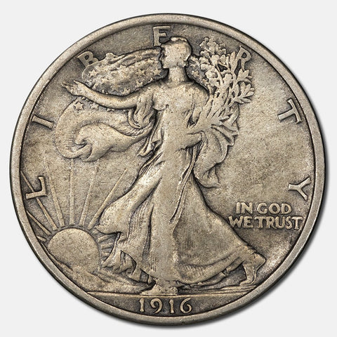 1916 Walking Liberty Half Dollar - Extremely Fine
