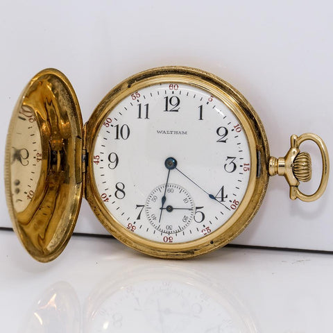 1916 Waltham 14K Solid Gold Pocket Watch - 17J, Grade No. 625, Model 1908, Size 16s