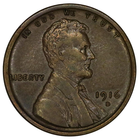 1916-D Lincoln Wheat Cent - About Uncirculated