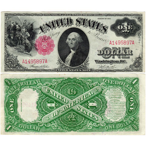1917 Sawhorse $1 Legal Tender Note - Fr. 36 - Very Fine+