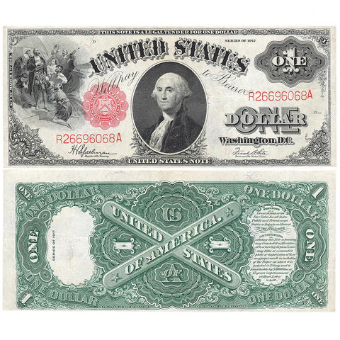 "1917 ""Sawhorse"" $1 Legal Tender Note - Fr. 39 - Extremely Fine+"