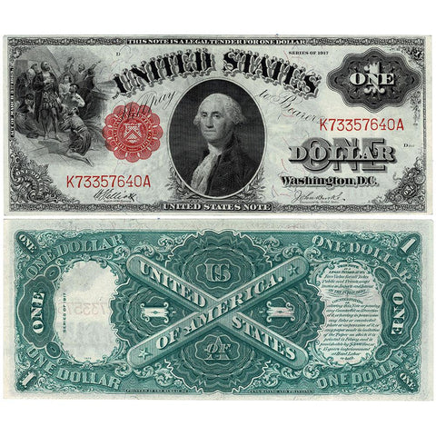 1917 $1 Legal Tender Sawhorse Note - Fr. 36 - Choice Very Fine