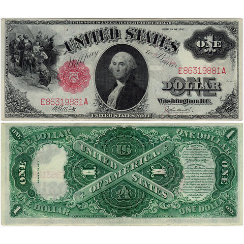 "1917 $1 Legal Tender ""Sawhorse"" Note - Fr. 37 - Very Choice About Uncirculated"