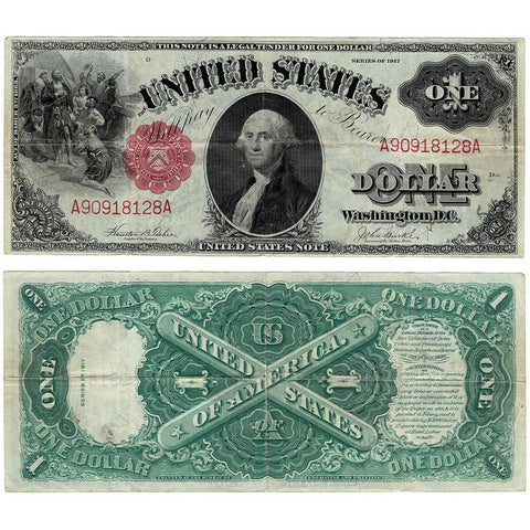 "1917 ""Sawhorse"" $1 Legal Tender Note - Fr. 36 - Very Fine"