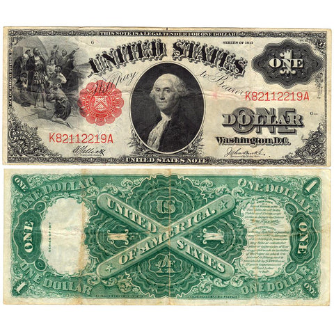 "1917 ""Sawhorse"" $1 Legal Tender Note - Fr. 37 - Very Fine"