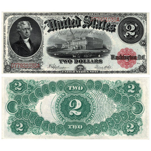 1917 $2 Legal Tender Note Fr. 60 - Choice Crisp Uncirculated