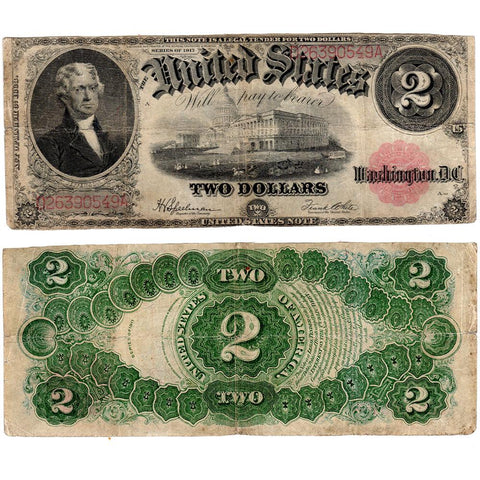 1917 $2 Legal Tender Note Fr.60 - Fine