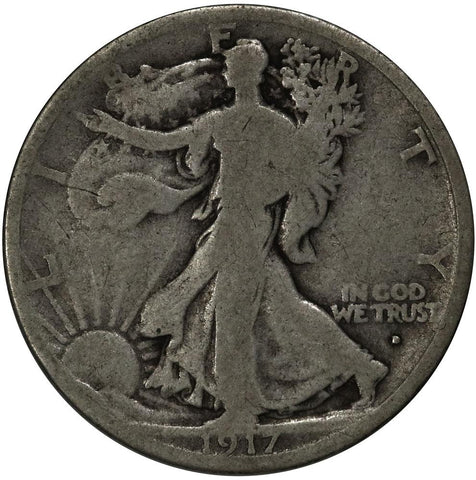 1917-D Walking Liberty Half Dollar - Good