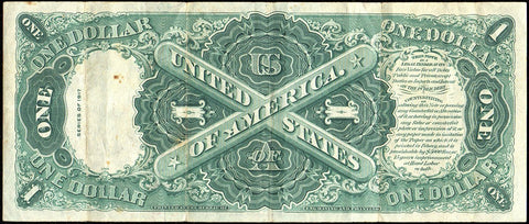 "1917 ""Sawhorse"" $1 Legal Tender Note - Fr. 37 - Crisp Very Fine"