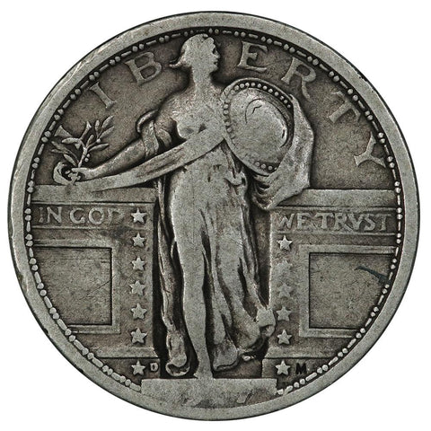1917-D T.1 Standing Liberty Quarter - Very Good