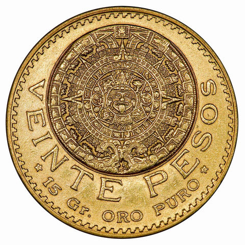 1918 Mexico 20 Peso Gold Coin - KM. 478 - About Uncirculated