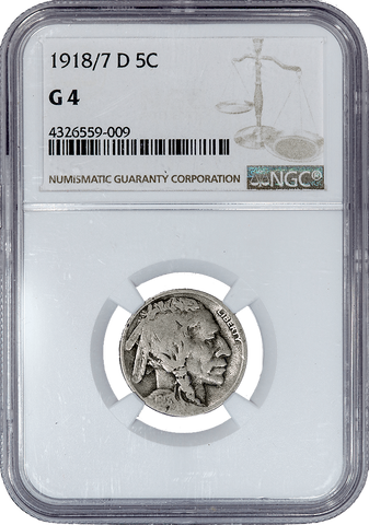 1918/7-D Buffalo Nickel - NGC Good 4