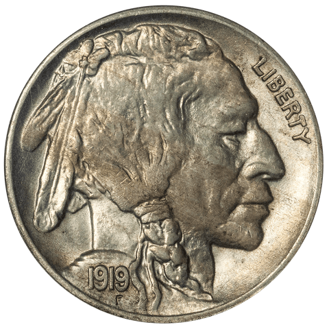 1919 Buffalo Nickel - NGC MS 63 - Choice Brilliant Uncirculated