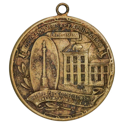 1919 100th Anniversary International Order of Odd Fellows Medal