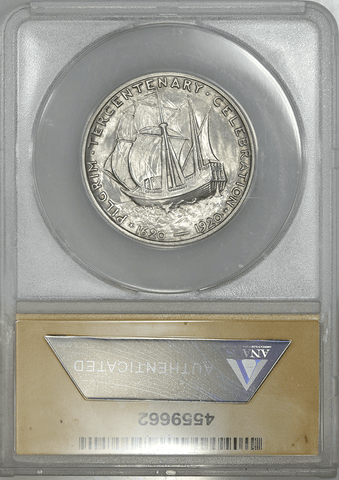 1920 Pilgrim Silver Commemorative Half Dollar - ANACS MS 62